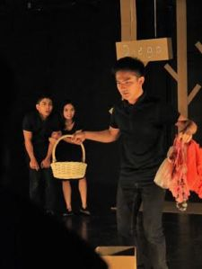 In the photo: Abner Delina is Julio, acting confused with what to do on the game he found himself into. Kalil Almonte and Thea Yrastorza as Diego and Luna, respectively, were looking on, cheering Julio. Photograph courtesy of 'Games People Play' production.