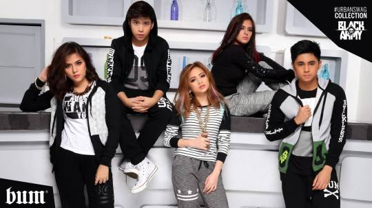 Five teen star-brand ambassadors pose for #BUMBlackRevelry collection. Image courtesy of BUM.